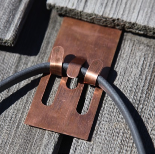 Copper Slate & Cedar Roof Clips
