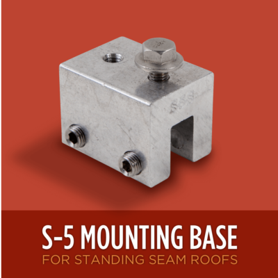 S-5 Heat Tape Mounting Base
